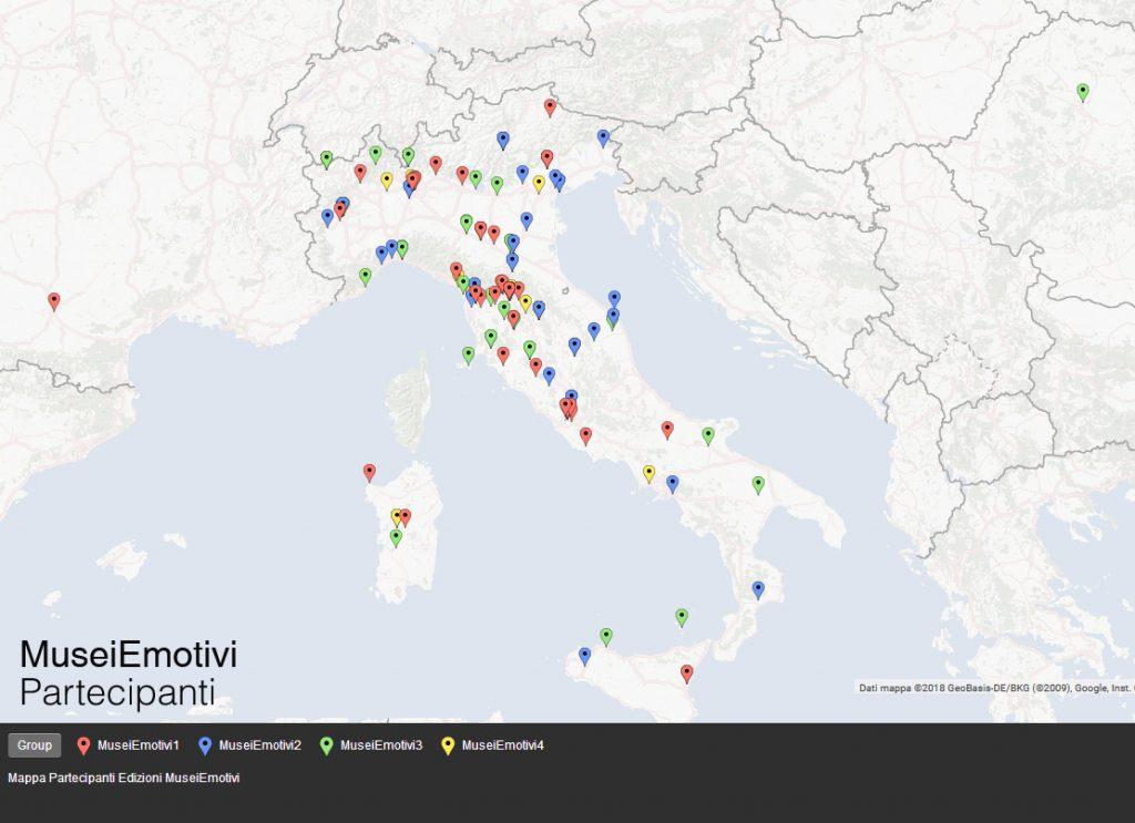 Mappa dei Partecipanti -Edizioni Musei Emotivi